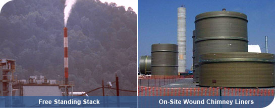 An-Cor DKG | Products - Stacks & Chimney Liners